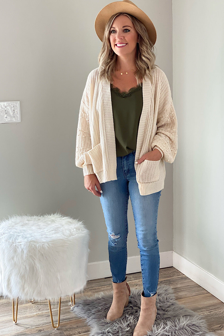 Come Over Balloon Sleeve Cardigan