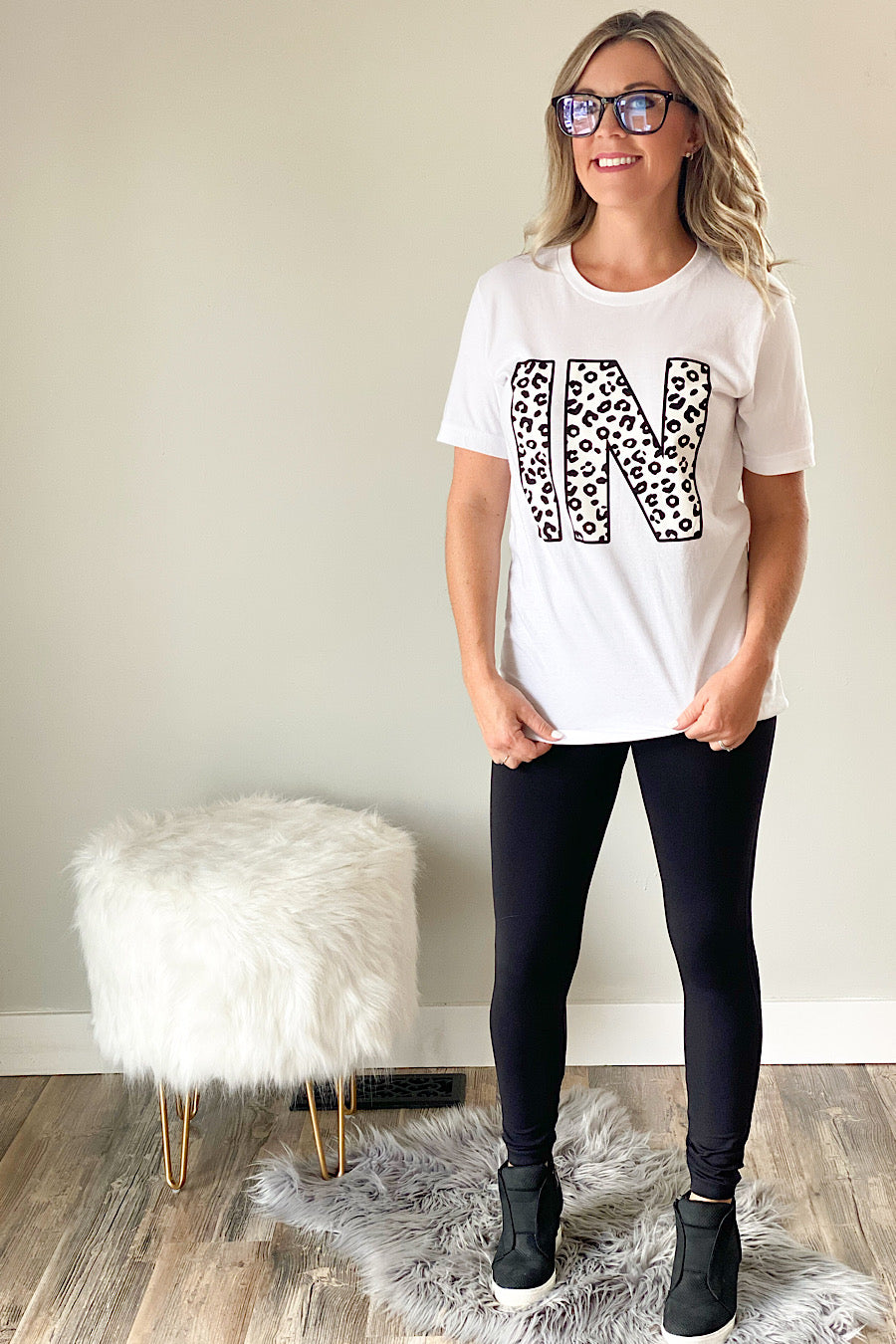 Leopard Indiana Graphic T-Shirt