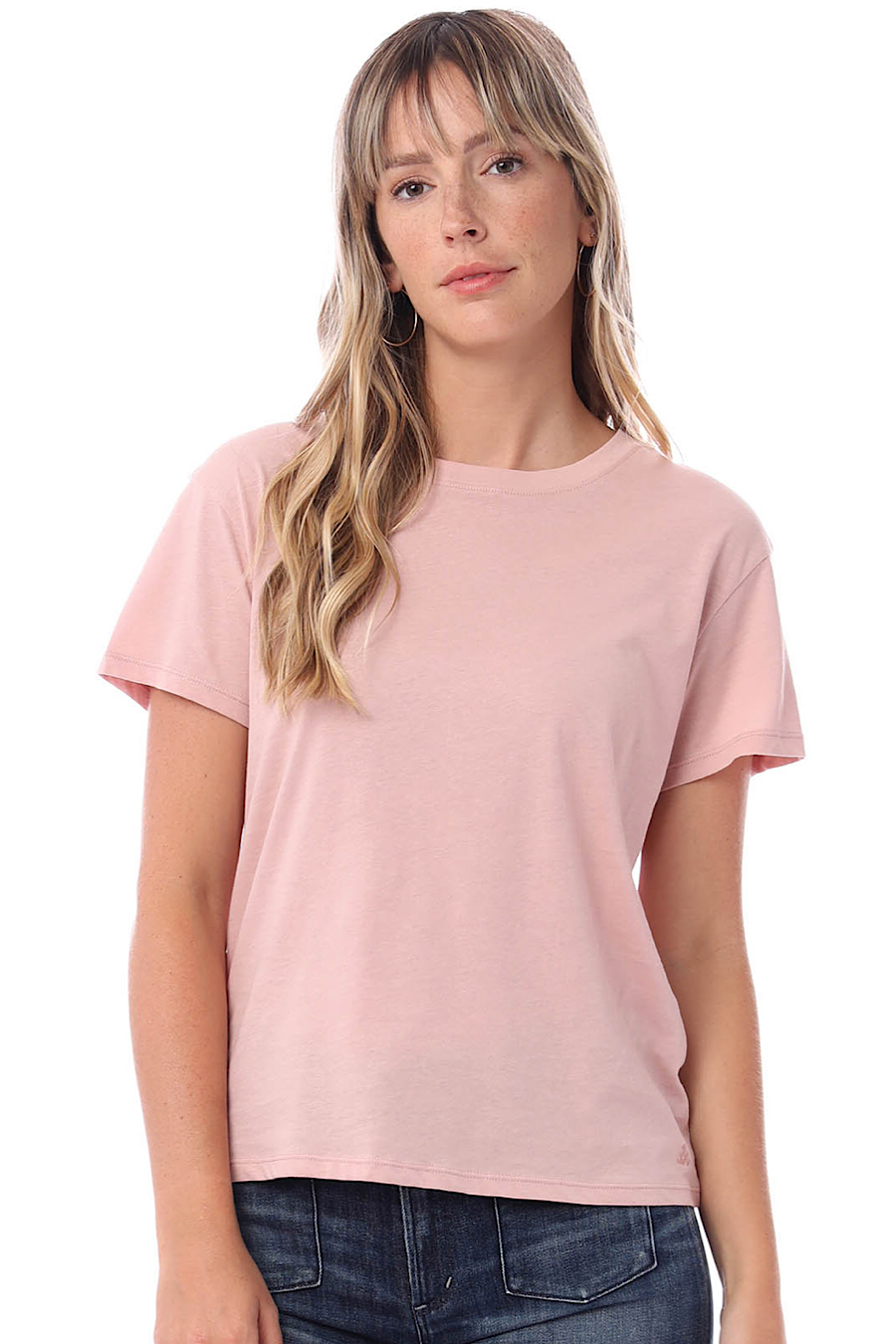 Organic Modern Crew T-Shirt in Rose