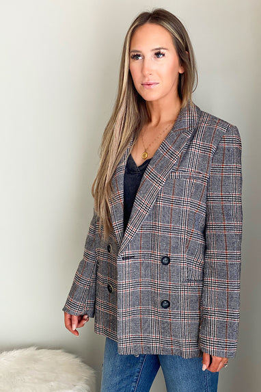 Check Mate Wool Blazer