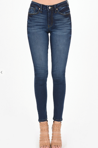 Gia Mid Rise Skinny Jeans