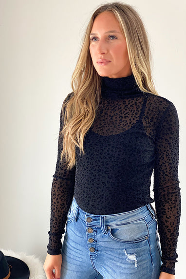 Sheer Genius Animal Print Top