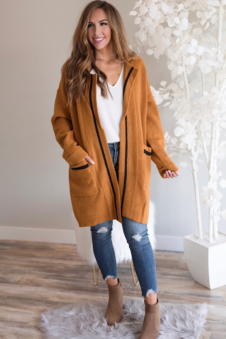 Bree Collared Jacket Cardigan