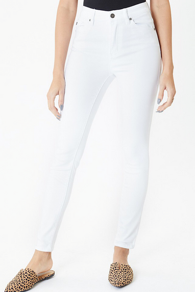 Shawn Super Skinny Jeans in Optic White
