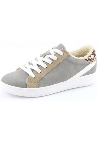 Dale Sherpa Sneaker in Grey