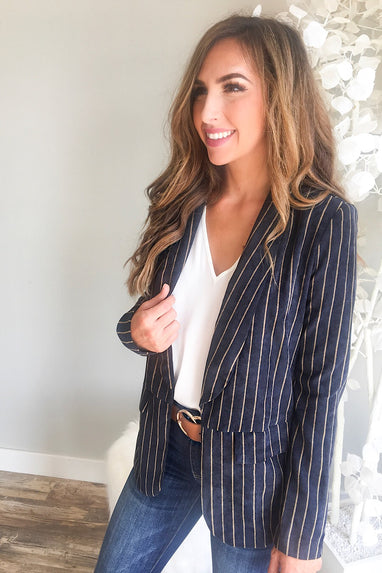 Striped Boyfriend Blazer
