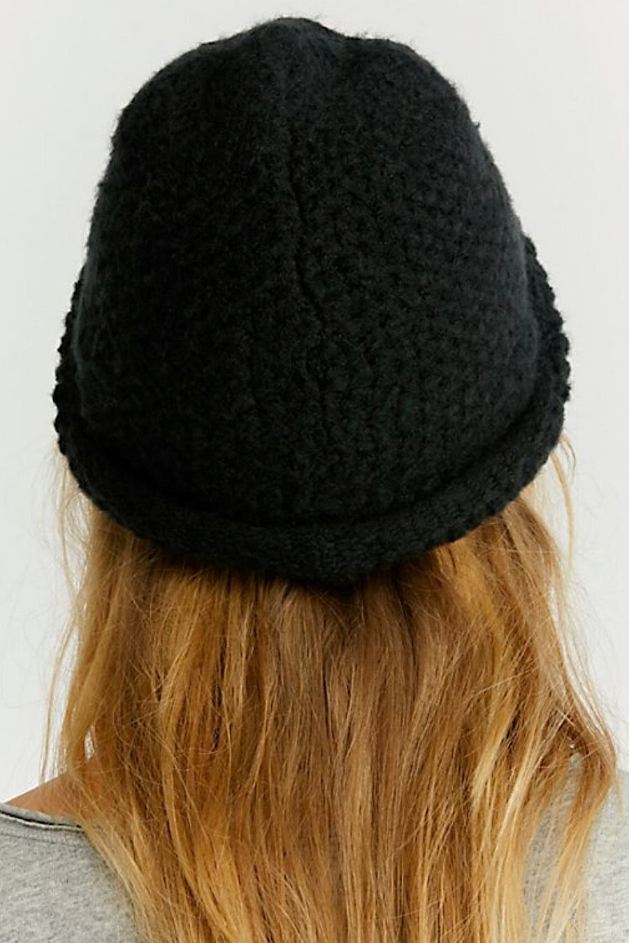 Free People Dreamland Knit Beanie in Black