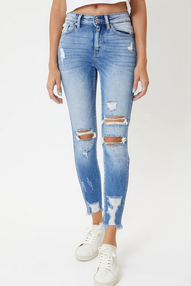 Danny High Rise Distressed Jeans