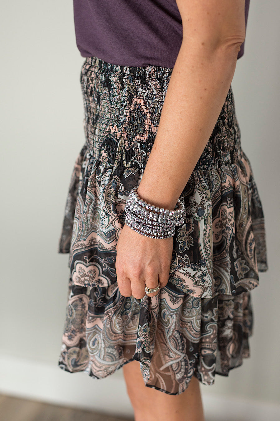Paisley Ruffled Skirt