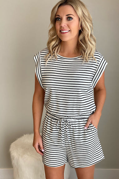 Samantha Striped Romper