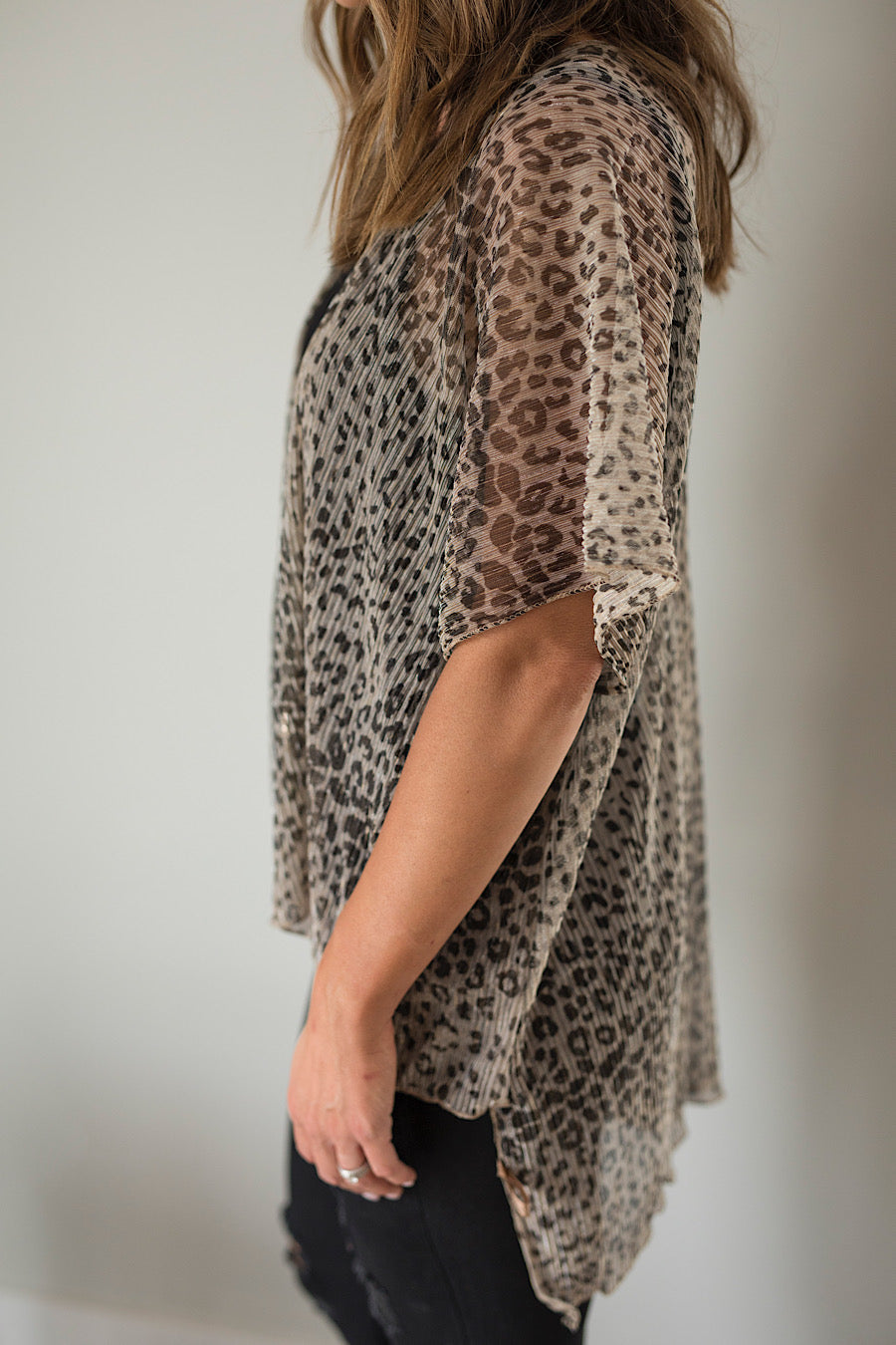 Leopard Print Kaftan Cover-Up