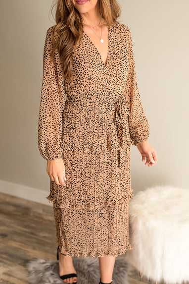 Savannah Cheetah Midi Dress