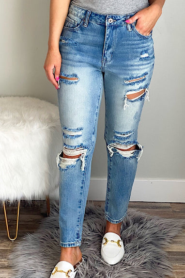 Darren Distressed Relaxed Straight Jeans