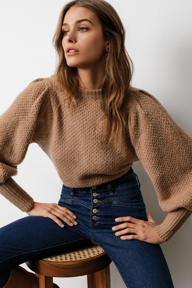 Bubble Over Latte Sweater