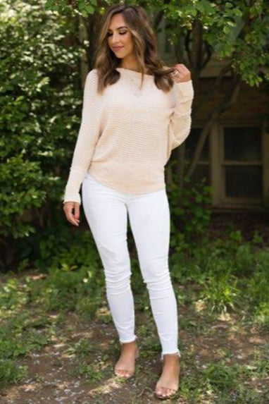 Sunday Morning Off Shoulder Top in Blush