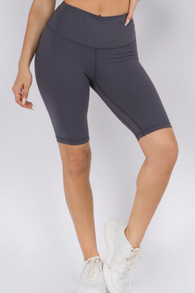Active Biker Shorts in Charcoal