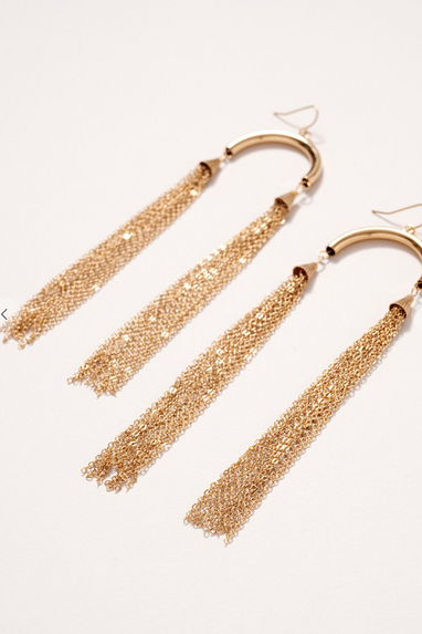 Dbl Chain Earrings in Gold or Silver
