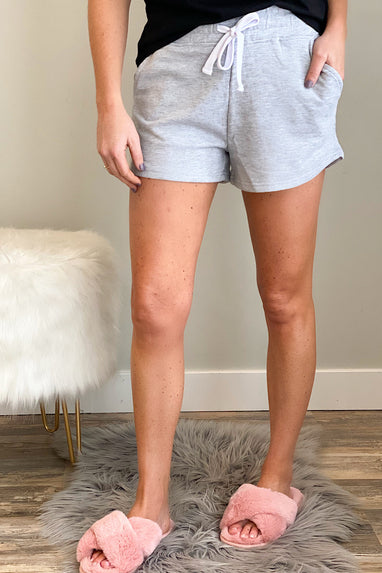 French Terry Shorts in Heather Grey