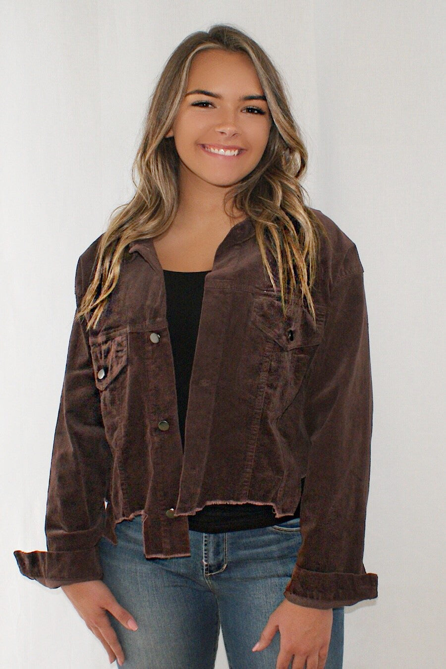Distressed Corduroy Jacket