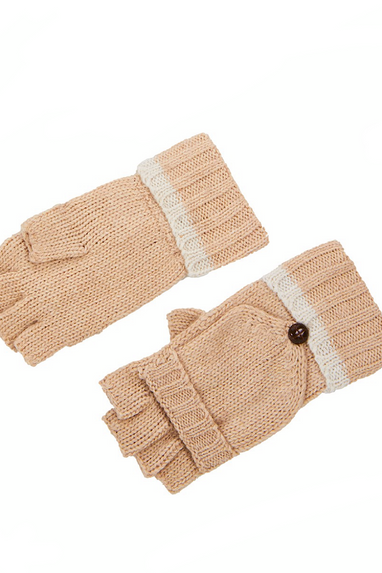 Mittens Flip Gloves in Black or Tan