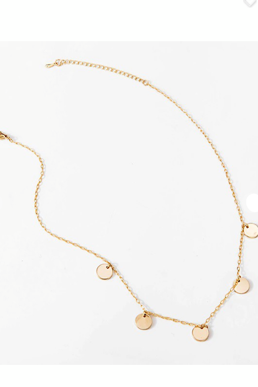 Gold Mini Coin Choker Necklace