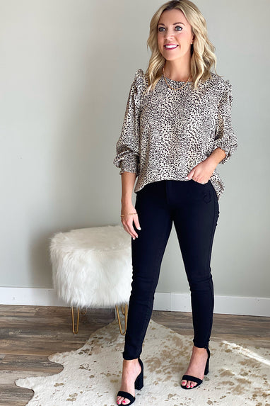 Untamed Animal Print Blouse