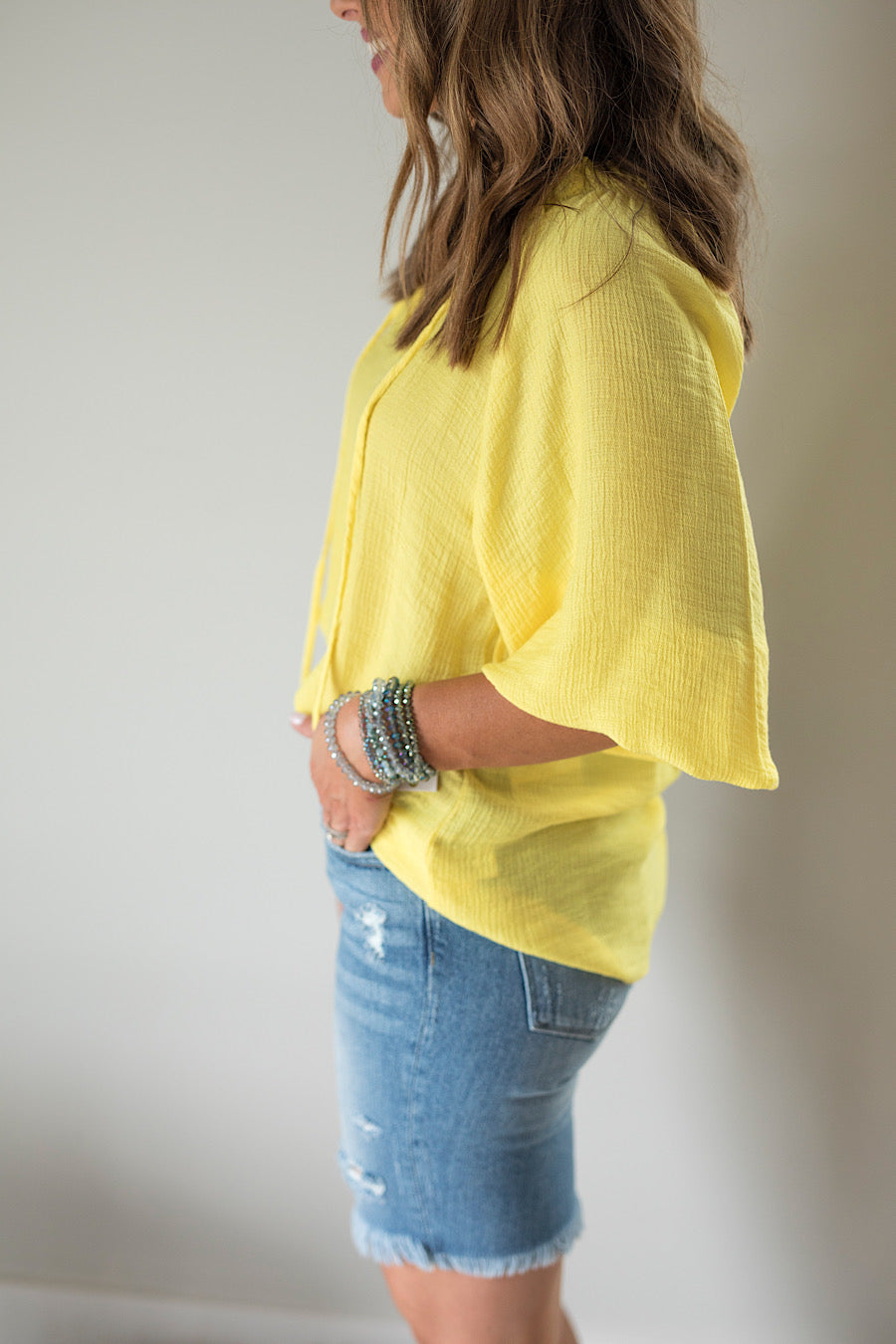 Sun Down Peasant Top