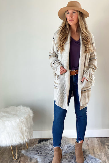 Nantucket Fringe Cardigan