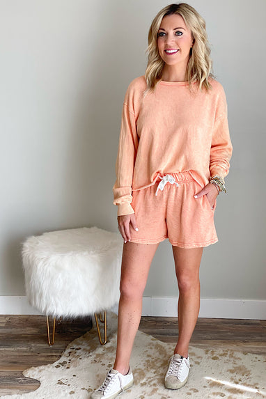 Quicksand Terry Top in Coral