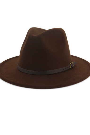 Fedoras with Dk Brown Belt in Camel, Black, Khaki, Wine, Coffee