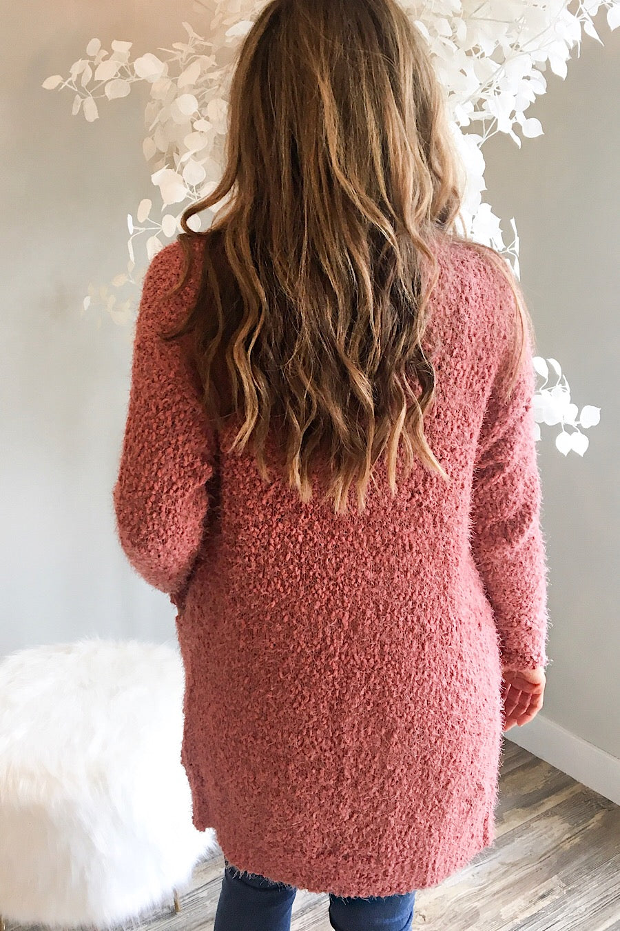 Neptune Popcorn Cardigan in Rust