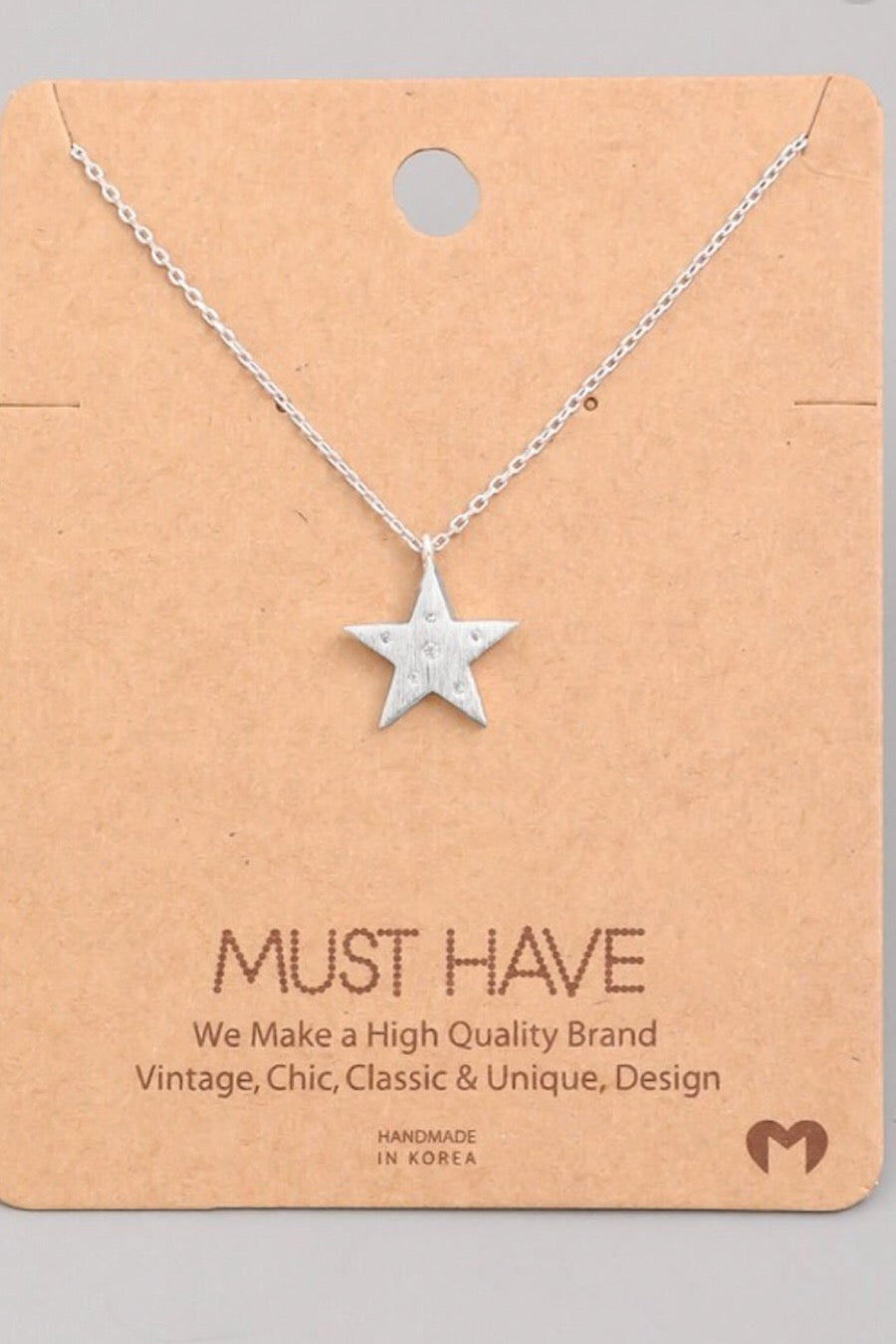 Single Star Necklace in Silver, Gold or Rosegold