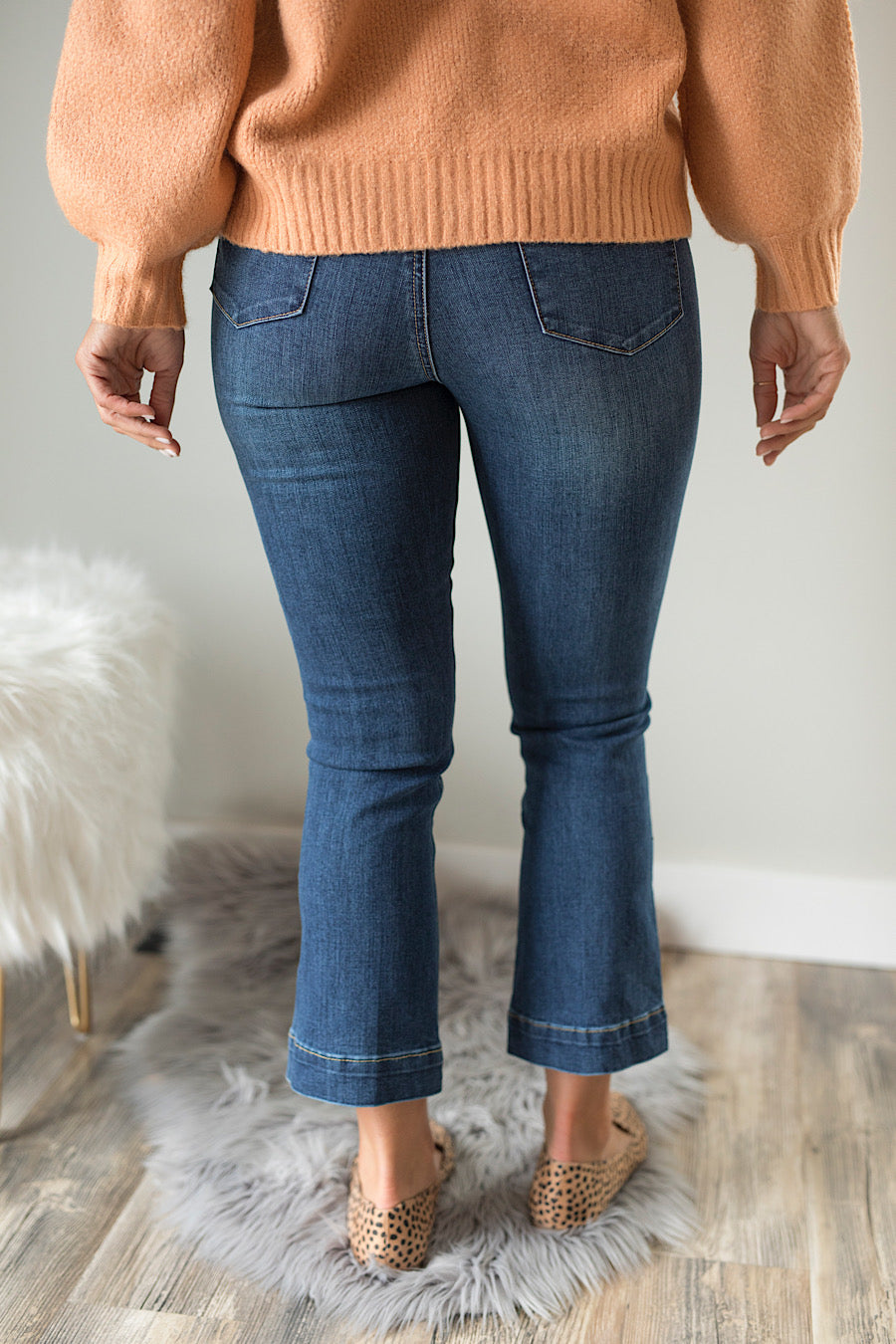 London Crop Flare Jeans
