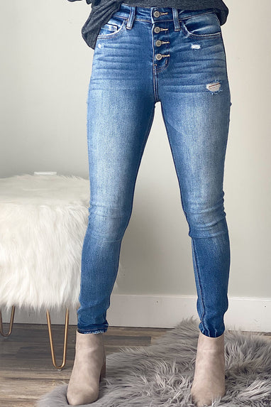 Jenna Button Fly Jeans