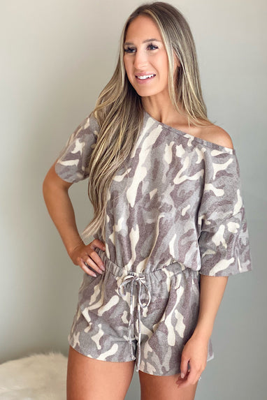 Camo Fleece Romper