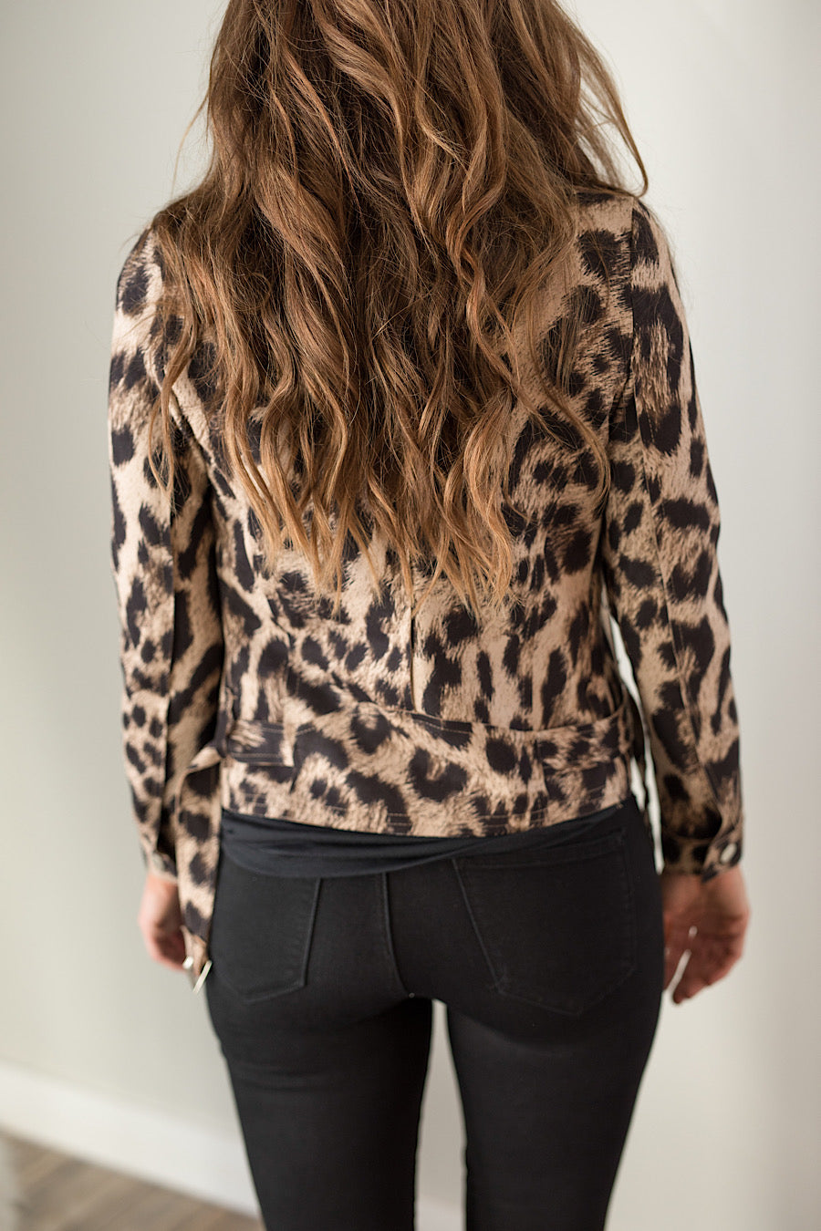 Living for Leopard Suede Moto Jacket
