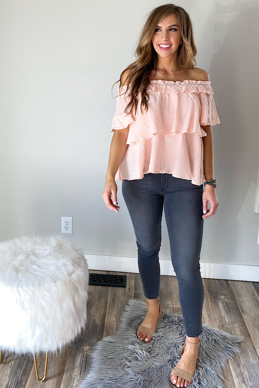 Layered Off the Shoulder Top