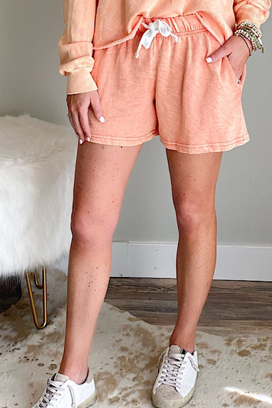 Quicksand Terry Shorts in Coral