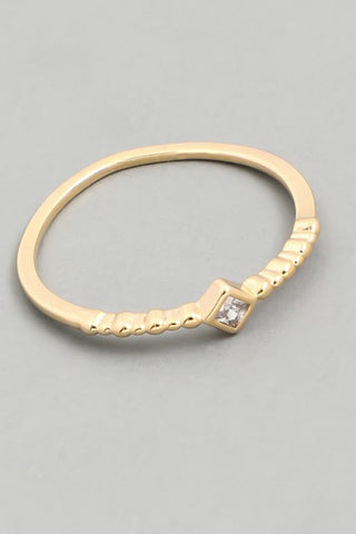 Dainty Solitaire Ring in Gold or Silver
