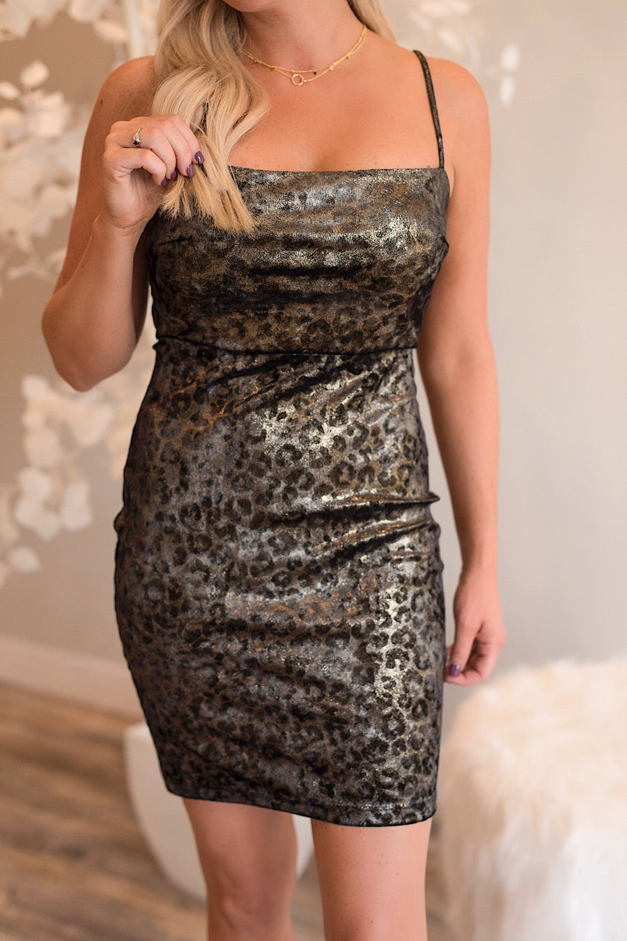 Leopard Bodycon Mini Dress