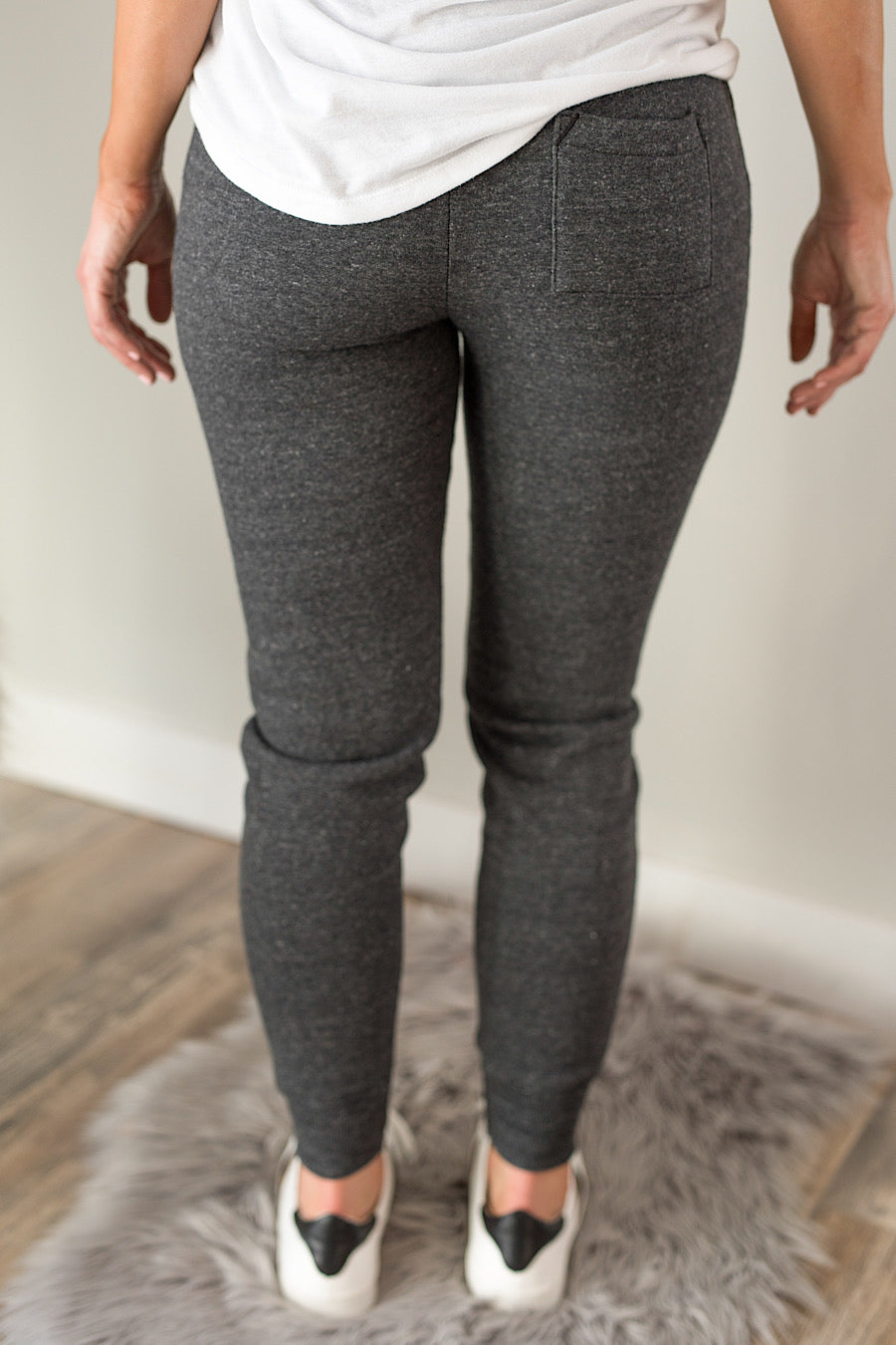Eco-Fleece Jogger in Washed Black