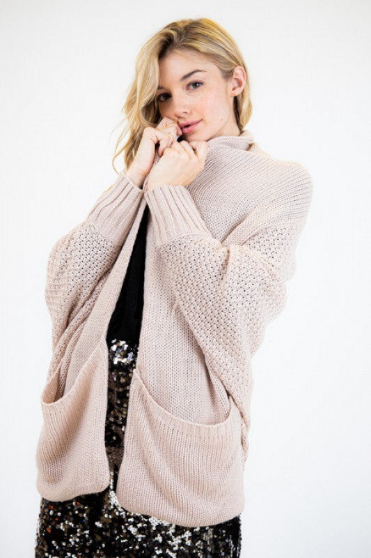 Dolman Cardigan in Beige