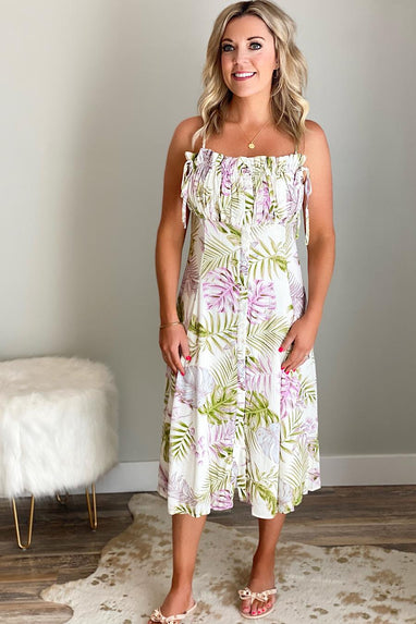 Under the Palms Midi Dress