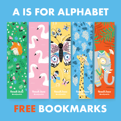 FREE A Is For Alphabet Bookmarks