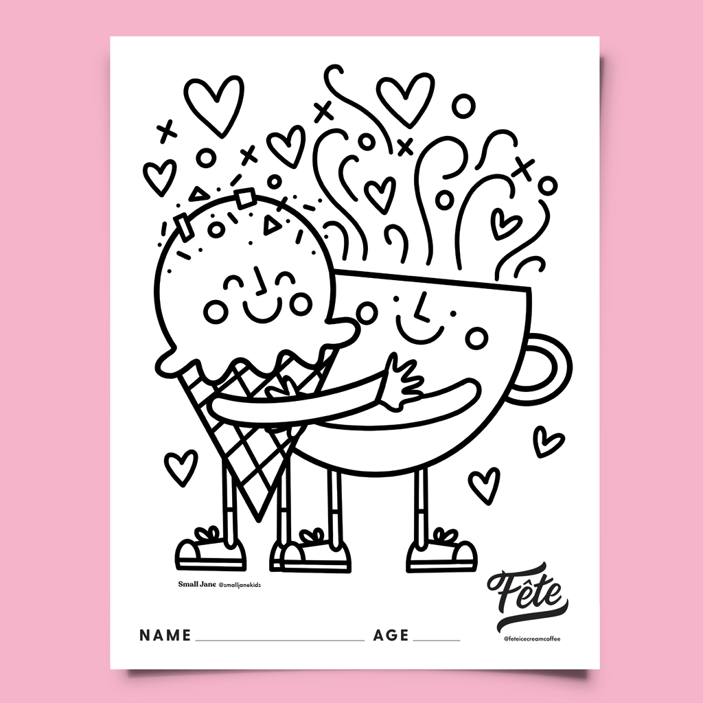 Fête Valentine's Day Colouring Contest Sheet