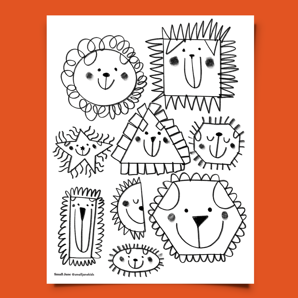 FREE! Animal Shapes Colouring Sheet