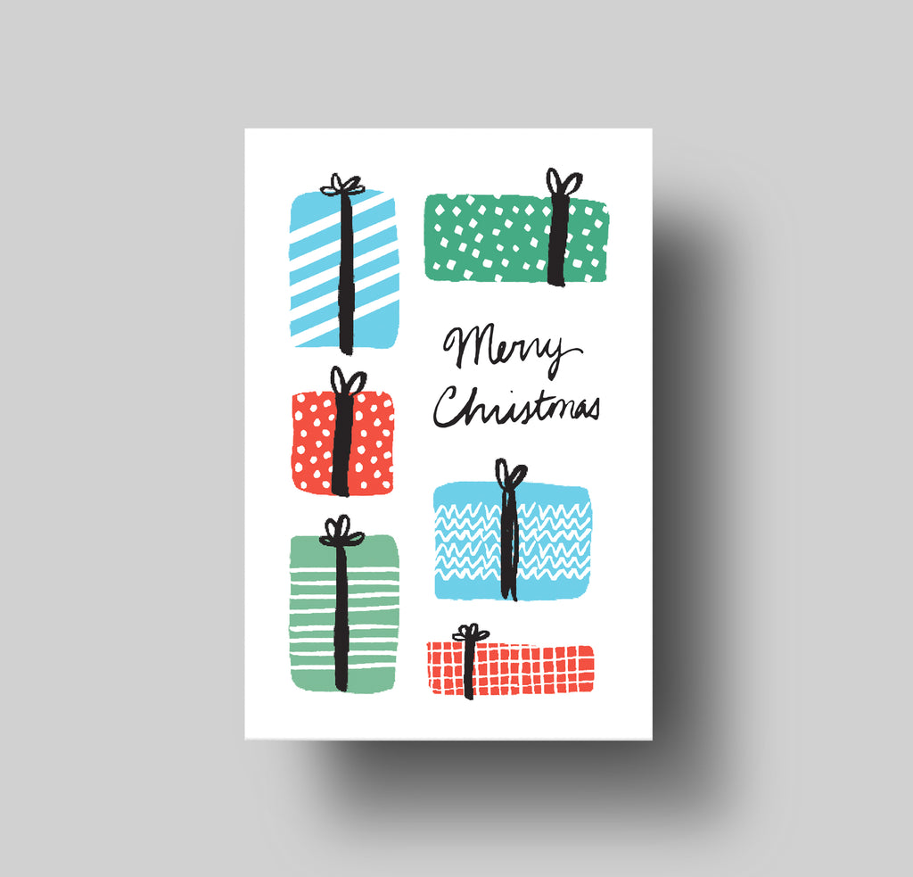 Merry Xmas Gifts Greeting Card