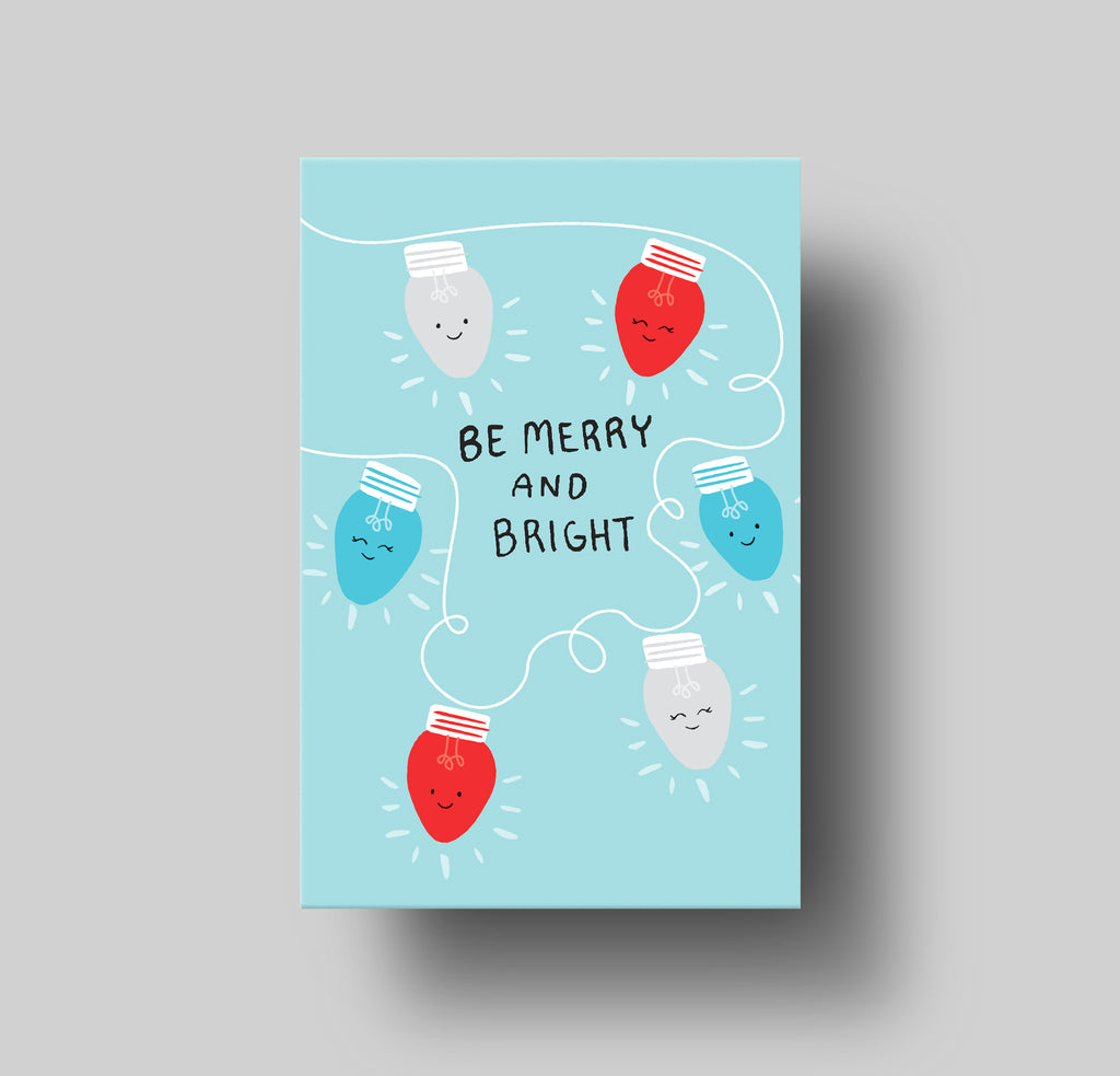 Lightbulbs Merry and Bright Greeting Card