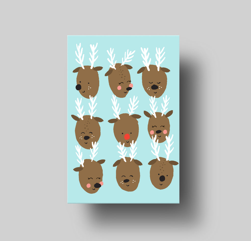 Merry Xmas Reindeer Greeting Card