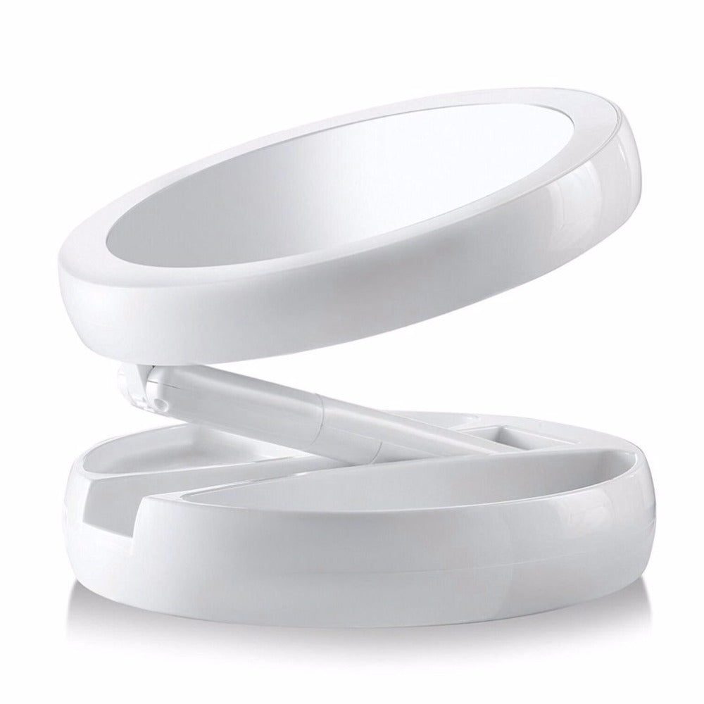Makeup Mirror Double-sided Rotation Folding